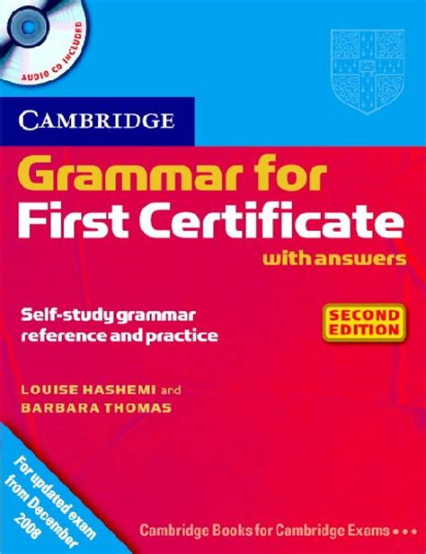 Grammar And Vocabulary For Fce With Answers And Cds cambridge vocabulary for certificate book with