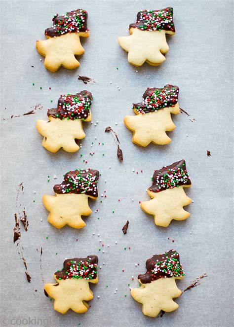 christmas tree chocolate dipped cookies