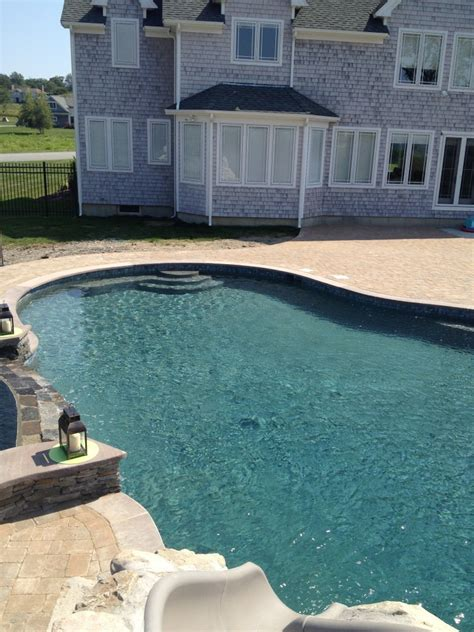 brownstone pool coping dynasty gunite fiberglass pools