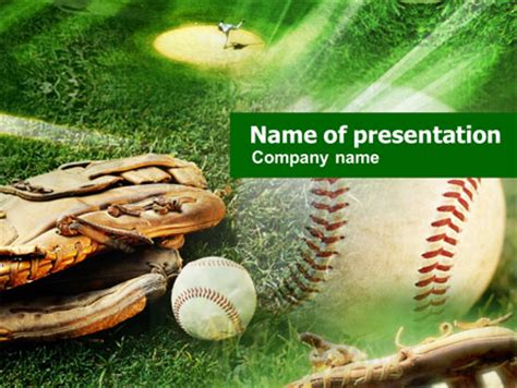 Baseball Themed Powerpoint Template baseball affiliation presentation template for powerpoint
