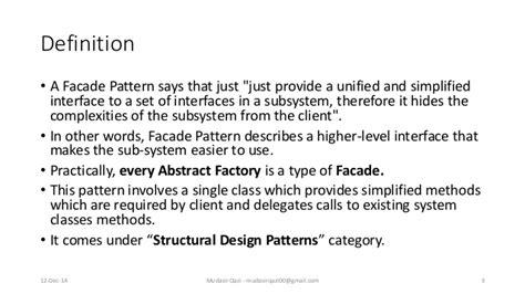 facade pattern meaning design pattern facade pattern