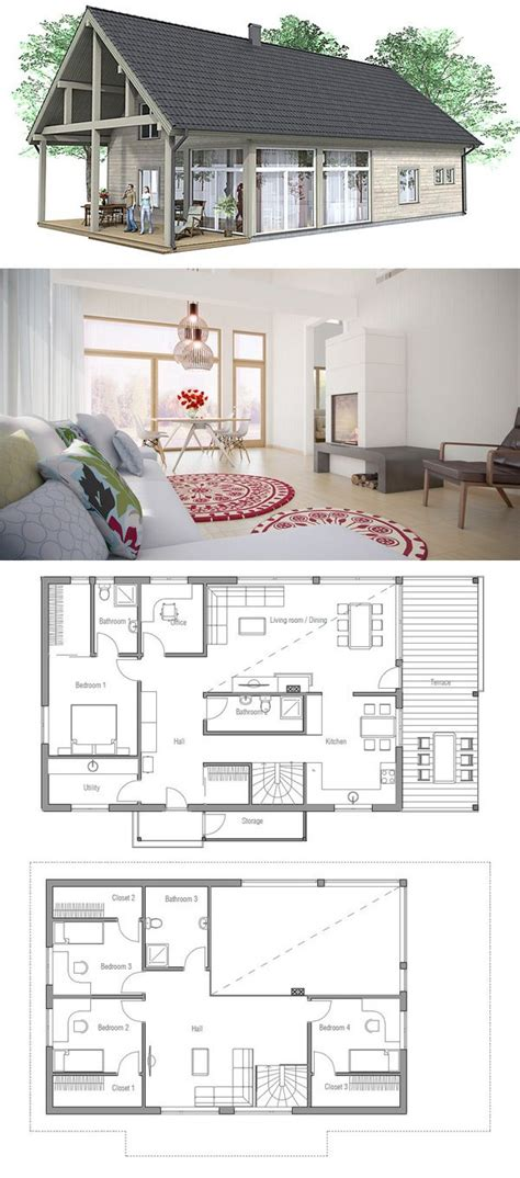 Cabin Style Homes Floor Plans by Les 25 Meilleures Id 233 Es De La Cat 233 Gorie Plans De Petite