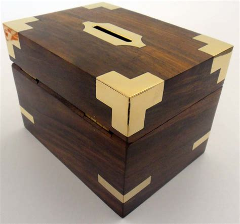 Handmade Money Boxes - china custom donation wooden money box photos