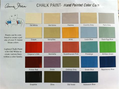 2017 paint colors annie sloan chalk paint color chart 2017 paint color ideas