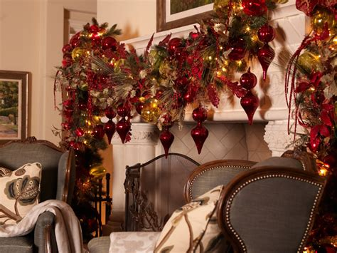 get it right a red and gold christmas theme mantels