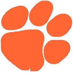orange paw print clipart
