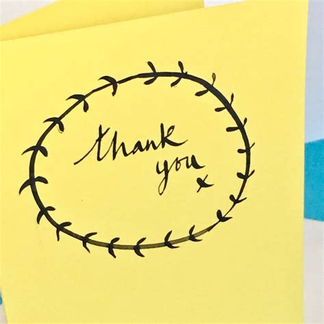 Lettered Thank You Cards