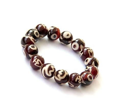12mm Tibetan Agate Dzi Beads Bracelet   Ovalbuy