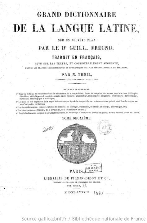 Grand dictionnaire de la langue latine, sur un nouveau