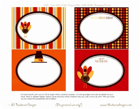 Free Printable Table Labels