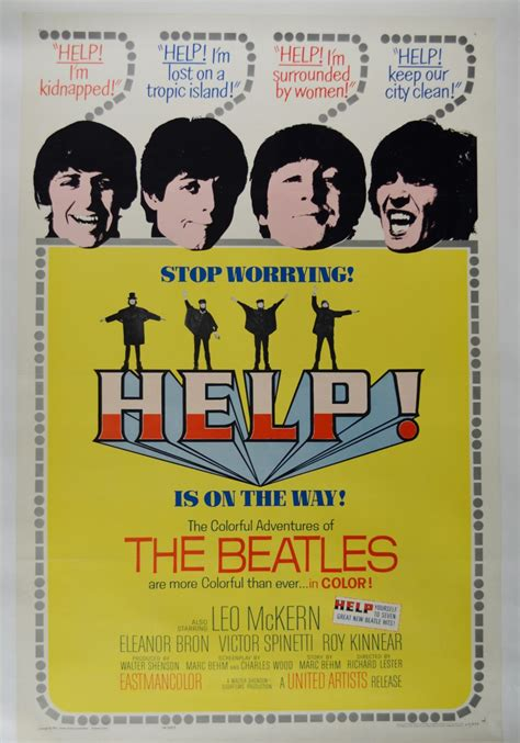 Poster Classic Vintage Help The Beatles lot detail 1965 the beatles quot help quot 1 sheet poster