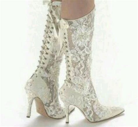 braut pantoffeln lace cowgirl wedding boots my divine style pinterest