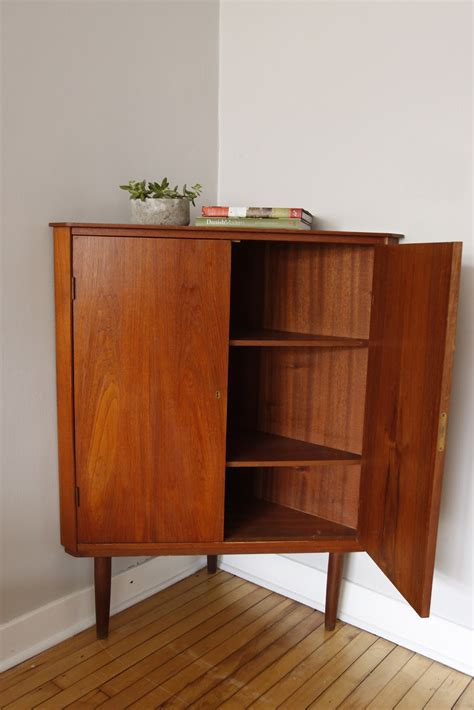mid century modern cabinet str8mcm danish modern corner cabinet