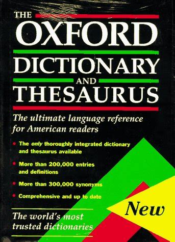 thesaurus confirmation the dictionary and thesaurus american edition the 9780195099492 buch kaufen