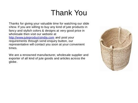 thank you for purchasing our product template jute products jute goods indian jute products
