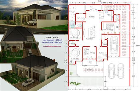 layout rumah 4 kamar tidur 71 desain rumah 1 lantai 4 kamar tidur house design