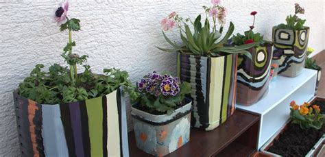 homemade flower pots diy flower pots painting plastic containers