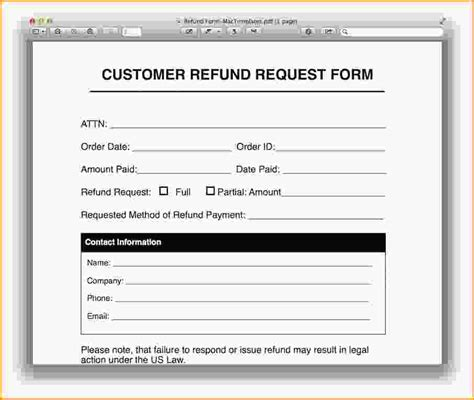 refund form template request form template purchase request form template jpg