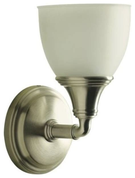 Kohler Devonshire Bathroom Lighting Kohler K 10570 Bn Devonshire Single Wall Sconce In Brushed Nickel Traditional Bathroom