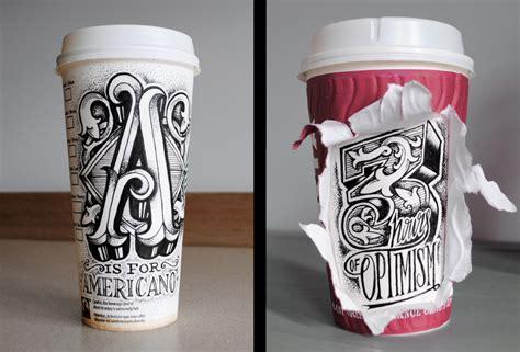 bicchieri starbucks artista crea opere sui bicchieri da caff 233 di starbucks