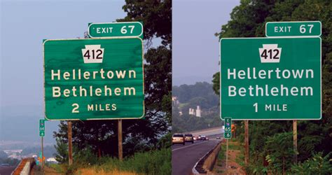 0008101760 collins common errors in english end of the road for readable highway signs newscut