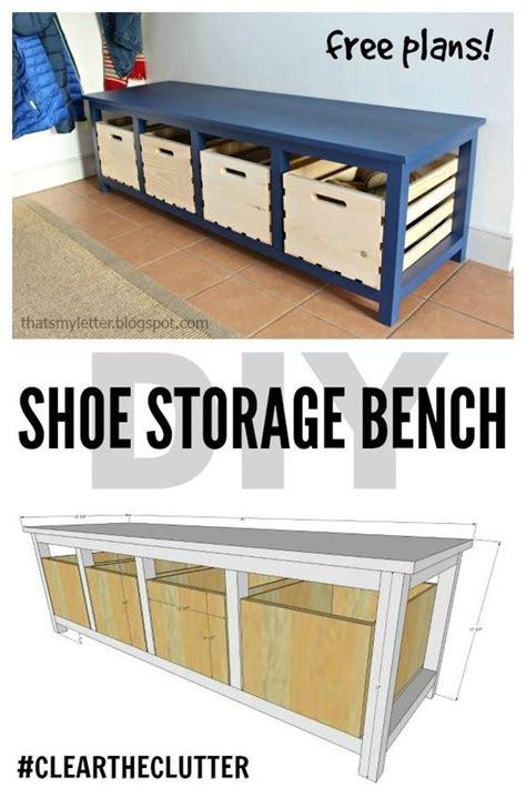 diy shoe storage bench  plans scrapworklove