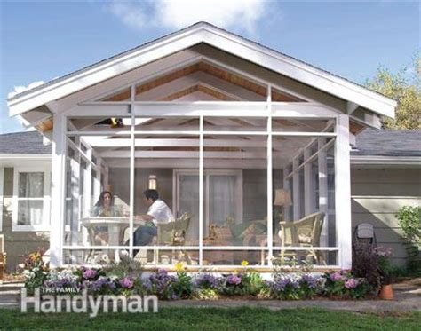 screen porch building plans screen porch construction the family handyman