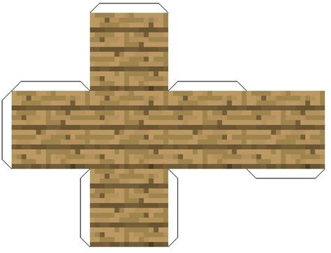 Minecraft Papercraft Wooden Planks - faire des planches de bois en papier minecraft