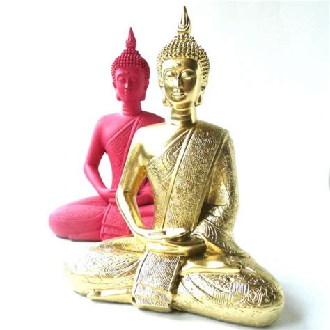 pink buddha statue bohemian home decor upcycled by