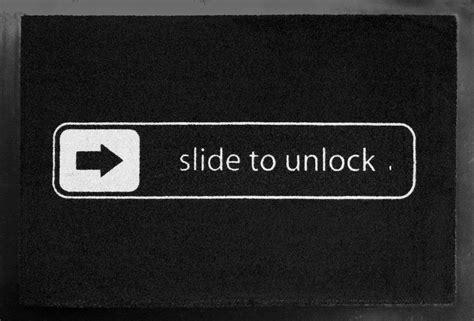 Slide To Unlock Doormat slide to unlock doormat 187 gadget flow