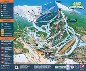 arizona snowbowl trail map resort map arizona snowbowl