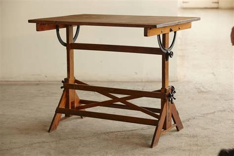 antique drafting table antique industrial american oak drafting table at 1stdibs