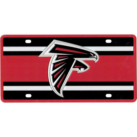 atlanta falcons colors atlanta falcons color stripe inlay license plate