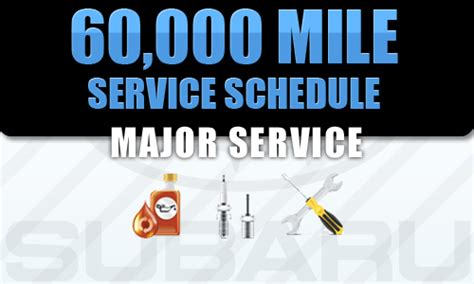 Subaru 60000 Mile Service by Portland 60 000 Mile Scheduled Maintenance Service