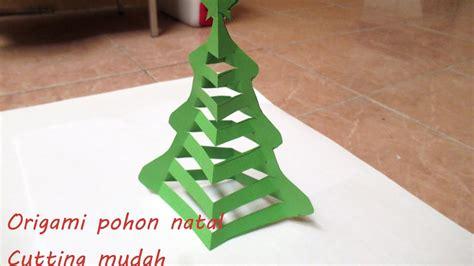Membuat Pohon Natal Origami | cara membuat pohon natal dari origami mudah youtube