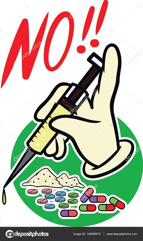 dibujos contra las drogas youtube ninguna ilustraci 243 n de drogas dibujos animados de vector