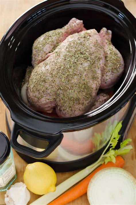 crock pot whole chicken slow cooker chicken cook eat paleo