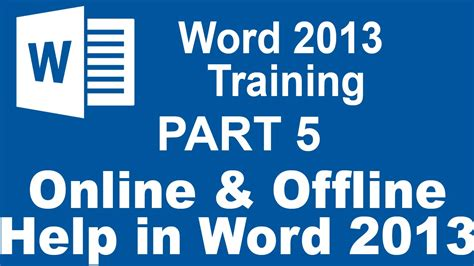 online tutorial word 2013 word 2013 for beginners part 5 using online and offline