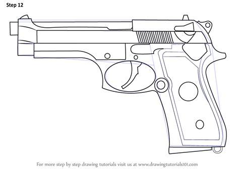 draw it simple handgun drawing www imgkid the image kid