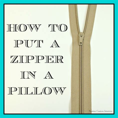 How To Install A Zipper In A Pillow by Pillow Zippers Home Decoration Club