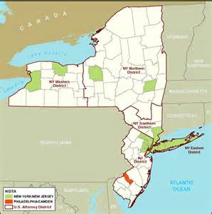 Map Of New York And New Jersey by Organized Crime Drug Enforcement Task Force Region