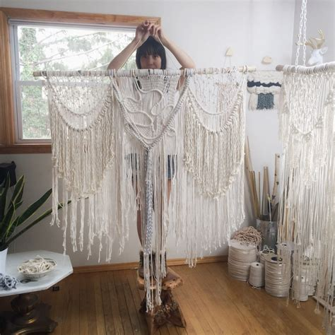 27 bohemian large macrame wall hanging boho decor by