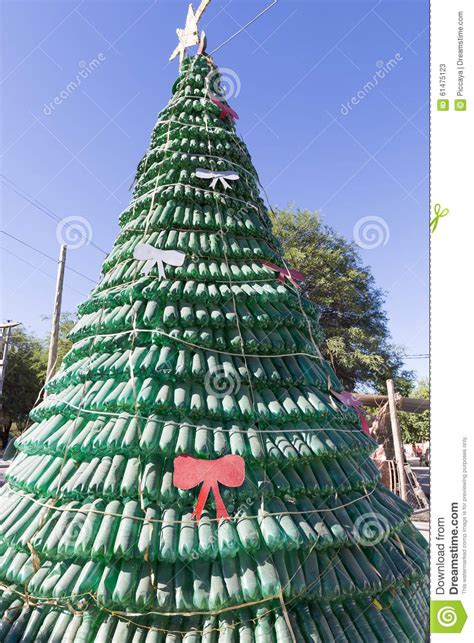 recycle christmas trees near me tree made of green plastic recycled bottles argentina stock image image 61475123