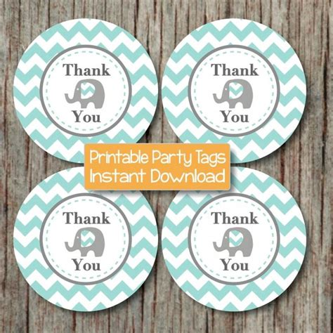 printable thank you tags for gift bags thank you gift bag tags diy printable bumpandbeyonddesigns