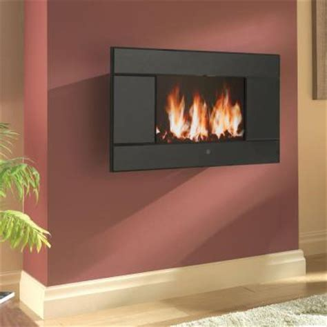 Lcd Electric Fireplace by Pleasant Hearth Evoke 31 1 2 In Wall Mount Lcd Electric