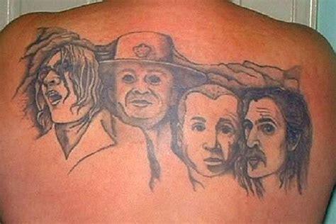 mount rushmore tattoo worst rock tattoos mount rockmore