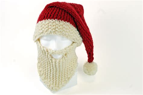 knit santa hat santa hat and beard knitting pattern hobbycraft