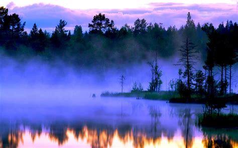hd misty lake wallpaper