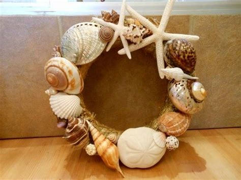 seashell home decor beach decor handmade seashell wreath shell wreath