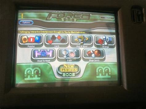 bar top touch screen games other arcade pinball megatouch force 2005 5
